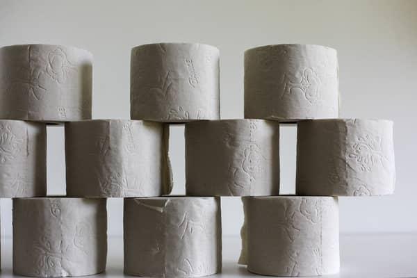 Vários rolos de papel higiênico