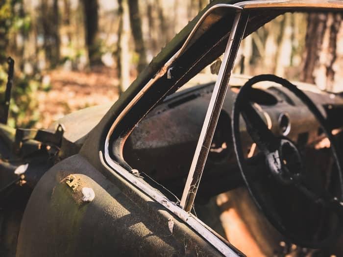 Carro desaparecendo